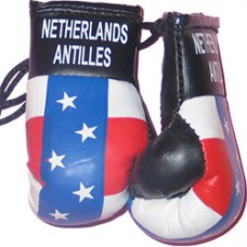 Netherlands Antilles Flag Mini Boxing Gloves