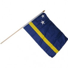 Curacao stick flag 12  X 18 inch polyester