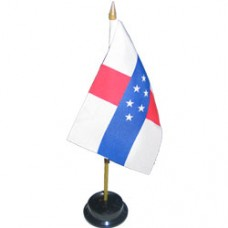 Netherlands Antilles 4 X 6 inch desk flag