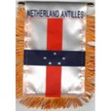 Netherlands Antilles flag mini banner