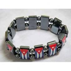 Cuba flag Hematite Stretch Bracelet