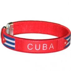 NEW Cuba Flag Metal Tip Bracelet