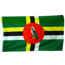 Dominica 2 feet X 3 feet polyester flag