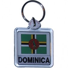 Dominica Square key ring