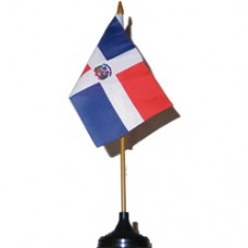 Dominican Republic 4 X 6 inch desk flag