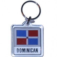 Dominican Republic Square key ring