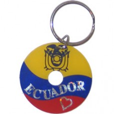Ecuador Circular key ring