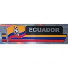 Ecuador 11.5 inch X 2.5 inch bumper sticker