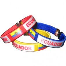 Ecuador Flag Metal Tip Bracelet