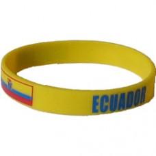 Ecuador Flag Silicon Bracelet