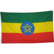 Ethiopia 3 feet X 5 feet polyester flag With Star