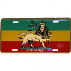 Ethiopia License Plate with Lion