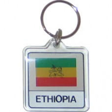 Ethiopia Square key ring