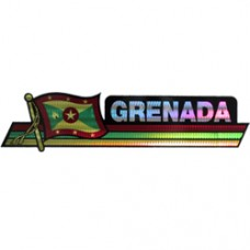 Grenada 11.5 inch X 2.5 inch bumper sticker