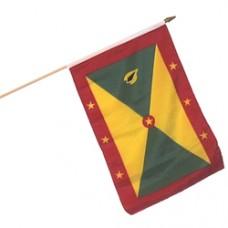 Grenada flag 12  X 18 inches w/ a 24 inch stick