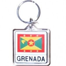 Grenada Square key ring