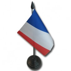 Guadeloupe / French 4 X 6 inch desk flag