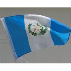 "Guatemala Car Flag  - 12 x 18"" - Plastic Clip"""
