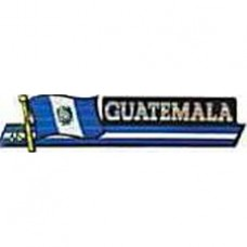 Guatemala flag 11.5 inch X 2.5 inch bumper sticker