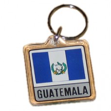 Guatemala Square key ring