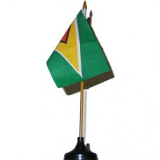 Guyana 4 X 6 inch desk flag