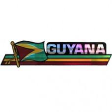 Guyana 11.5 inch X 2.5 inch bumper sticker