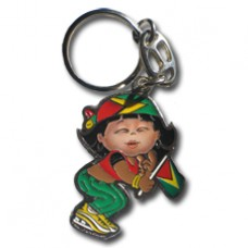 Guyana Large Girl key ring