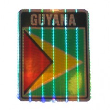 Guyana 4 inch X 3 inch decal