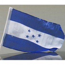 """Honduras Car Flag  - 12 x 18"""" - Plastic Clip"""""""