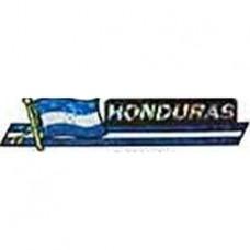 Honduras flag 11.5 inch X 2.5 inch bumper sticker