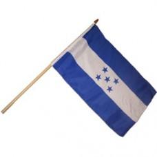 Honduras Large stick flag 12  X 18 inches w/ 24 inch stick