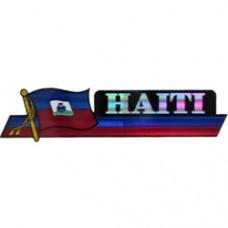 Haiti 11.5 inch X 2.5 inch bumper sticker