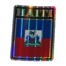 Haiti 4 inch X 3 inch decal