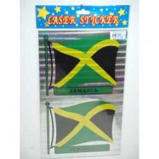 Jamaica 2 pieces flag laser sticker