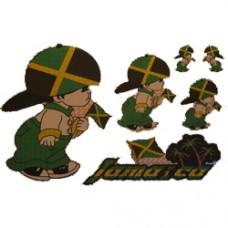 Jamaica Multi-Pack Laser Stickers - BOY DESIGN