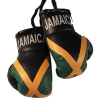 Jamaica Flag Mini Boxing Gloves
