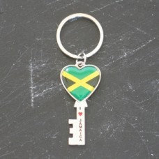 Jamaica Heart Key Chain