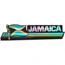 Jamaica 11.5 inch X 2.5 inch bumper sticker
