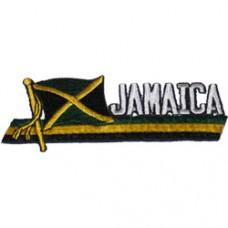 Jamaica Small Iron On Sidekick Patch
