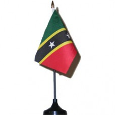 St. Kitts and Nevis 4 X 6 inch desk flag