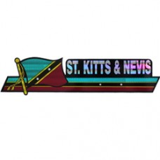 St. Kitts And Nevis 11.5 inch X 2.5 inch bumper sticker
