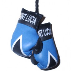 St. Lucia Flag Mini Boxing Gloves