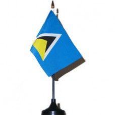 St. Lucia 4 X 6 inch desk flag
