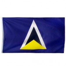 St. Lucia 3 feet X 5 feet polyester flag