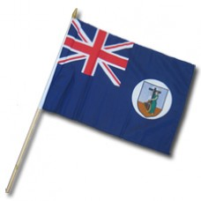 Montserrat flag 12 X18 inches with a 24 inch stick