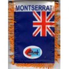 Montserrat flag mini banner