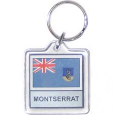 Montserrat Square key ring