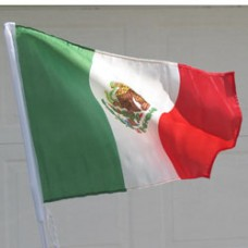 "Mexico Car Flag  - 12 x 18"" - Plastic Clip"""