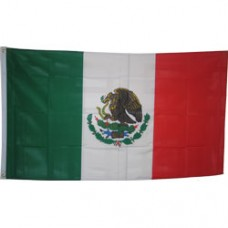 Mexico 3 feet X 5 feet polyester flag