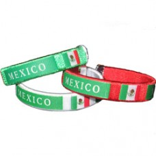 Mexico Flag Metal Tip Bracelet